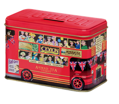 Ahmad English Breakfast London Bus Tea Caddy - 25ct Bags