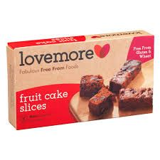 Lovemore Fruit Cake Slices - 200g - Free from Gluten & Wheat - Sold Out 2020
