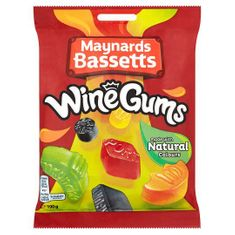 Maynards Bassetts Wine Gums Bag - 190g