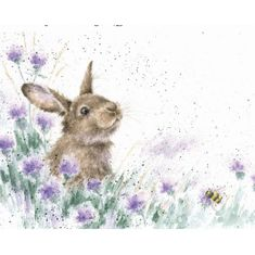"""Meadow Rabbit"" Card - 3 In Stock"