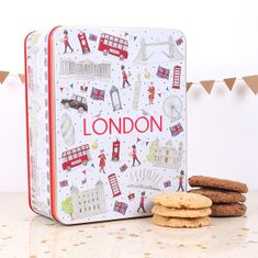 Milly Green London Icons Biscuit Tin - 400g - Sold Out