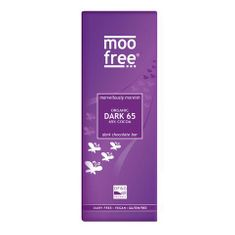 Moo Free Dark 65 Chocolate Bar - 80g - BB Dec 2020