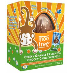 Moo Free Organic Cheeky Orange Easter Egg + Choccy Chum Surprise - 120g - Sold Out  2020