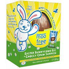 Moo Free Organic Easter Bunnycomb Egg + Choccy Chum Surprise - 130g - Sold out  2020