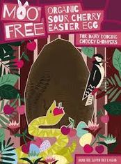Moo Free Organic Sour Cherry Easter Egg - 140g - 3 In Stock