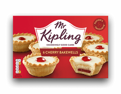 Mr Kipling 6 Cherry Bakewells - 282g - Sold Out