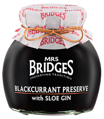 Mrs. Bridges Black Currant Preserve with Sloe Gin - 340g