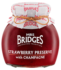 Mrs. Bridges Strawberry Preserve with Champagne - 113g - Sold Out
