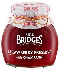 Mrs. Bridges Strawberry Preserve with Champagne - 340g - Sold Out