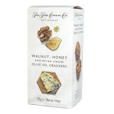 The Fine Cheese Co. Walnut, Honey, & Extra Virgin Olive Oil Crackers - 125g