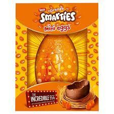 Orange Smarties Mini Eggs Incredible Egg - 470g - Sold Out 2020