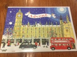 'Palace of Westminster' Advent Calendar Card - Sold Out