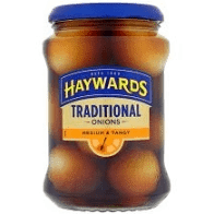Haywards Traditional Onions Medium & Tangy - 400g - Low Stock Alert