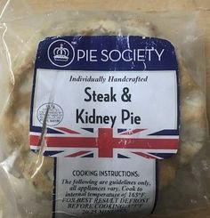Pie Society Steak and Kidney Pie- Sold Out