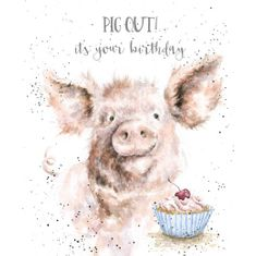 'Pig Out' Birthday Card - Sold Out