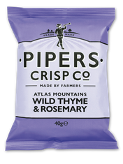 Pipers Crisp Co. Atlas Mountains Wild Thyme & Rosemary - 150g - Sold Out