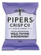 Pipers Wild Thyme & Rosemary Crisps - 40g - Sold Out