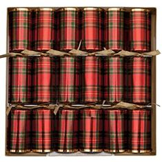 Red Plaid Crackers - 6 pack - Sold Out