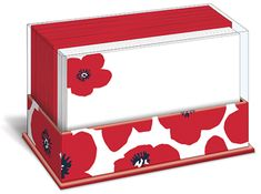 Poppy Punch Note Cards with Envelopes - 50 pack - 1 in stock