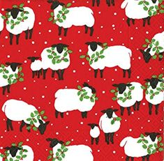Red Festive Flock Napkins - sold out