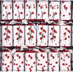 Walpert Red Glitter Pussywillow Crackers - 6 pack - 2 In Stock