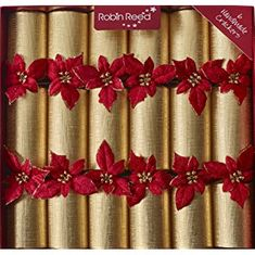 Robin Reed Poinsettia Crackers - 6 pack - Sold Out 2020
