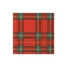 Royal Plaid Cocktail Napkins - 20ct - sold out