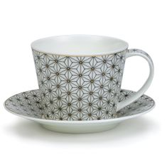 Dunoon Samarkand White Cup and Saucer - Islay