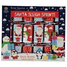 Santa Sleigh Sprint! Race Game Crackers - 6pk  - Sold Out