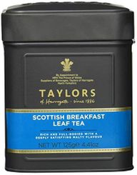 Taylors of Harrogate Scottish Breakfast Leaf Tea Tin - 125g