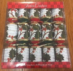 Season Greetings Crackers - 10 pack - Sold out