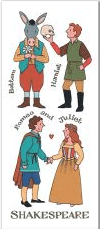 Shakespeare's Characters Magnetic Bookmark - 4 In Stock
