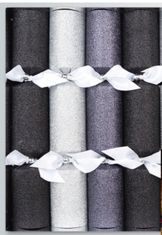 Silver, Grey and Black Glitter Crackers - 6 pack - 3 In Stock