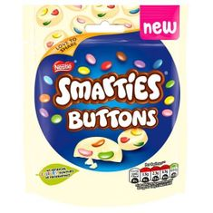 Smarties White Chocolate Button Bag 85g