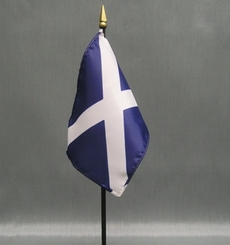 "Scotland St Andrew's Miniature Flag - 4"" x 6"""