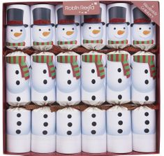 Robin Reed Racing Racing Snowmen Crackers - 6 pack - Sold Out