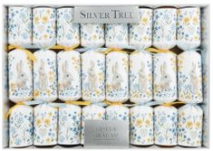 Silver Tree Easter Bunny Floral Crackers 8 Pack