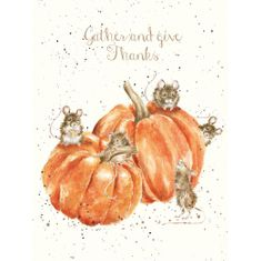 'Gather and Give Thanks' Card