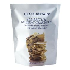 Grate Britain All British Stilton Crackers Pouch - 45g - Currently Not Available