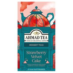 Ahmad Strawberry Velvet Cake Black Tea - 15ct Bags