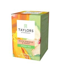 Taylors of Harrogate White Hibiscus & Peach - 20ct Bags - 5 In Stock