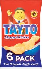 Tayto Cheese & Onion 6 Pack - 150g