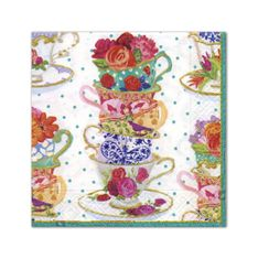 Tea Cups Luncheon Napkins - 20ct - Sold Out