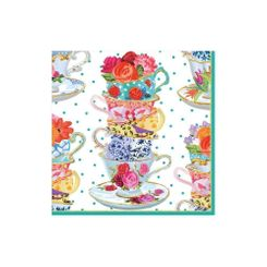 Tea Cups Cocktail Napkins - 20ct - Sold Out