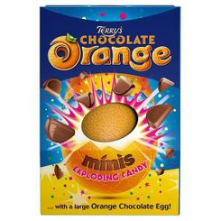 Terry's Chocolate Orange Exploding Candy Minis Large Egg - 250g