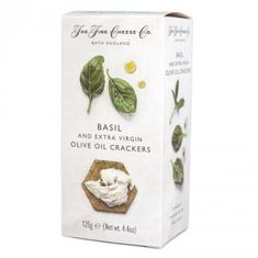 The Fine Cheese Co. Basil & Extra Virgin Olive Oil Crackers - 125g - 3 In Stock