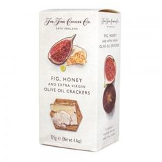 The Fine Cheese Co. Fig, Honey, & Extra Virgin Olive Oil Crackers - 125g - 4 In Stock