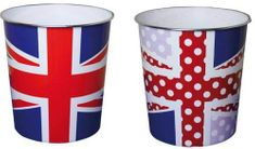 Union Jack Rubbish Bins