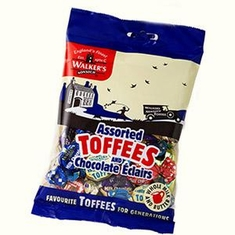 Walkers Assorted Toffees & Chocolate Eclairs - 150g- Sold Out