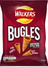 Walkers Bugles Southern Style BBQ - 110g - 2 left